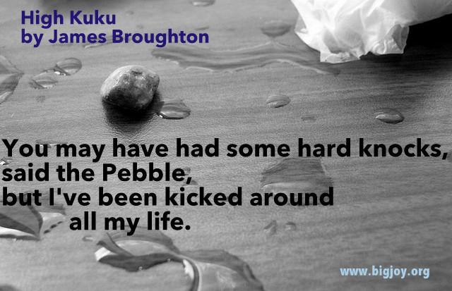 Pebble High Kuku by James Broughton pic by Jeff Warren